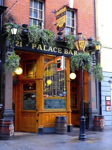 The Palace Bar on Fleet Street in Dublin was established in 1823. (David Lyon for The Boston Globe)